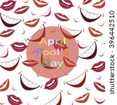 april fool's day.funny... | Shutterstock .eps vector #396442510