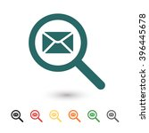 set of  blue mail vector icon