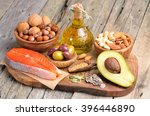 selection of healthy fat... | Shutterstock . vector #396446890