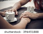 young couple meeting in a cafe. ... | Shutterstock . vector #396451888