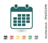 set of  blue calendar vector...