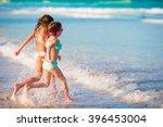 little girls having fun at... | Shutterstock . vector #396453004