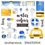 premium quality watercolor... | Shutterstock .eps vector #396453934