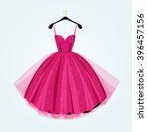 pink party dress.prom dress... | Shutterstock .eps vector #396457156