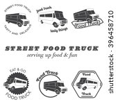 set of food truck emblems ... | Shutterstock .eps vector #396458710