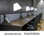 large modern office with open... | Shutterstock . vector #396459004