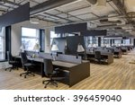 large modern office with open... | Shutterstock . vector #396459040