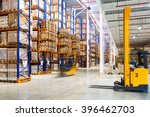 Large modern warehouse with...