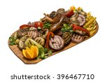 boyer's plate with smoked pork... | Shutterstock . vector #396467710