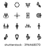 community web icons for user... | Shutterstock .eps vector #396468070