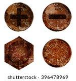 vector old rusty bolt screw... | Shutterstock .eps vector #396478969