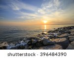 empty sea and rocks during the...   Shutterstock . vector #396484390