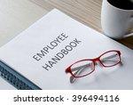 employee handbook | Shutterstock . vector #396494116