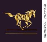 Stock vector horse logo vector 396494563
