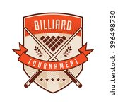 billiards emblems labels and...