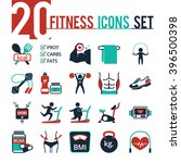 fitness icon vector set | Shutterstock .eps vector #396500398