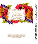 abstract flower background with ... | Shutterstock .eps vector #396503620