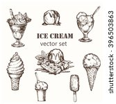 ice cream set. elements for the ... | Shutterstock .eps vector #396503863