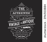 Vintage frame design western label blackboard typography border vector | Shutterstock vector #396503884