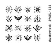 handdrawn tribal patterns with... | Shutterstock . vector #396514858