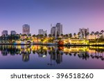 Small photo of Long Beach, California, USA skyline.