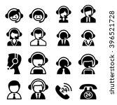 customer service icon   call... | Shutterstock .eps vector #396521728