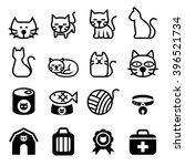Stock vector cat icon 396521734
