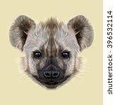 illustrated portrait of hyena. ... | Shutterstock . vector #396532114