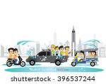 cartoon vector of boy and a... | Shutterstock .eps vector #396537244