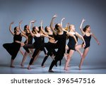 the group of modern ballet...   Shutterstock . vector #396547516