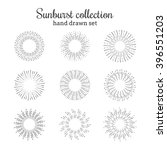 sunburst vector collection.... | Shutterstock .eps vector #396551203