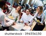 blond russian  waitress... | Shutterstock . vector #396556150