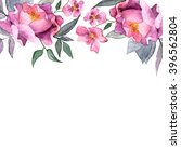 floral background. watercolor...   Shutterstock . vector #396562804