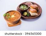pav bhaji is a fast food dish... | Shutterstock . vector #396565300