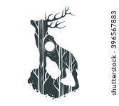 abstract deer hand draw | Shutterstock .eps vector #396567883