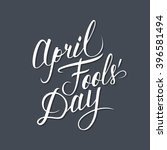 april fool's day card.... | Shutterstock .eps vector #396581494