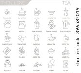 thin line tea vector interface... | Shutterstock .eps vector #396582019