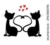 Cute Cats   Silhouette Of A Ca...