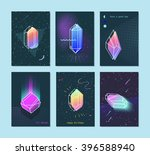 bright backgrounds set of neon... | Shutterstock .eps vector #396588940