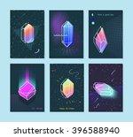 bright backgrounds set of neon... | Shutterstock .eps vector #396588940