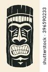 hawaiian tiki statue mask. hand ... | Shutterstock .eps vector #396590233