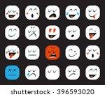 set of emoticons or emoji.... | Shutterstock .eps vector #396593020