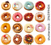 a collection of colorful sweet... | Shutterstock . vector #396599404
