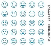 vector icons of smiley faces | Shutterstock .eps vector #396599806