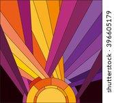 art deco vector colored... | Shutterstock .eps vector #396605179