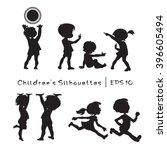 children in cartoon style.... | Shutterstock .eps vector #396605494