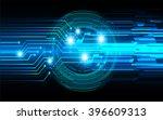 blue abstract vector hi speed... | Shutterstock .eps vector #396609313
