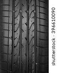 closeup on car tyre texture | Shutterstock . vector #396610090