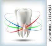 image tooth  3d vector... | Shutterstock .eps vector #396614698