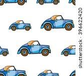 auto transport seamless pattern ... | Shutterstock .eps vector #396622420